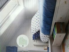 Attic bed with storage