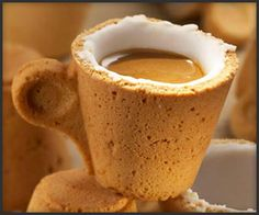 This is a Cookie Cup. You drink the coffee and then you eat the cup!