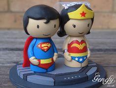 Cute Superman Wedding Cake Topper  by GenefyPlayground