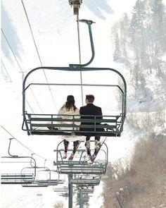 ski resorts, idea, mountain, brides, inspir