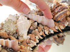 How to make a seashell mirror bathroom mirrors, craft, sea shell, seashell mirror, beachi, gift ideas, diy mirror, seashel mirror, shell mirrors