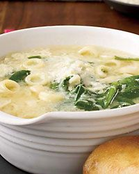 Spinach and Egg-Drop Pasta Soup