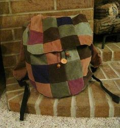 Recycled Patchwork Backpack