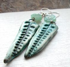 Tangled Fronds Dangle Earrings with artisan by 13Alternatives, £24.00