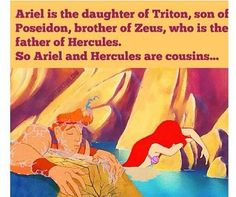 Funny how The Little Mermaid and Hercules are two of my top favorite Disney movies