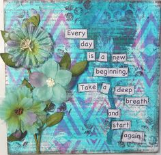 Every day... a 6x6 mixed media  wall hanging