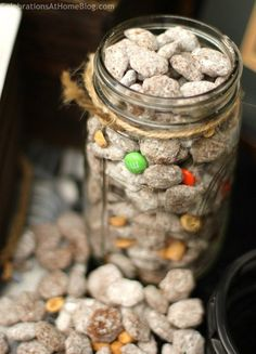 Sweet & Salty Snack Mix Recipe... stores perfectly in a large mason jar that looks great on your table too!