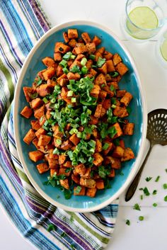 Sweet Potato Home Fries l www.SimplyScratch.com