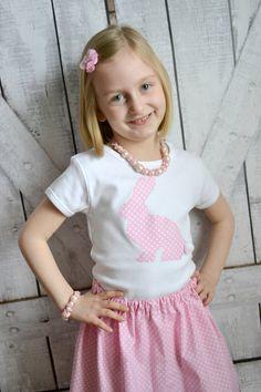 PINK EASTER BUNNY Girls Polka Dot Bunny by SweetThreadsClothing, $24.95