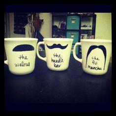 Mustache coffee cups!