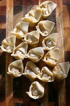 Sichuan Red Oil Wontons (红油抄手)   Easy Asian Recipes at RasaMalaysia.com
