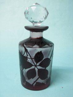 Nice Bohemia Acid Cameo Glass Perfume Bottle   eBay