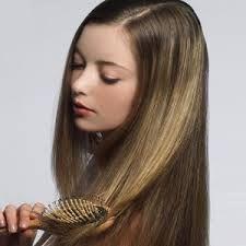 Brush hair gently.