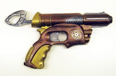 Steampunk gun - CLOTHING- Knitting, sewing, crochet, tutorials, children crafts, papercraft, jewlery, needlework, swaps, cooking and so much more on Craftster.org nerf gun, steampunk gun, ray gun