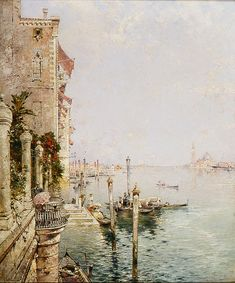 Franz Unterberger (Austrian-Belgian, 1838-1902). The Grand Canal, Venice, n.d. Charles and Emma Frye Collection, 1952.177