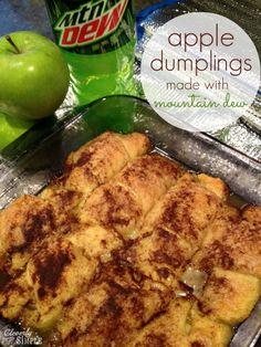 Apple Dumplings made with Mountain Dew