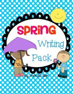 Cute writing ideas for spring! LOVE!