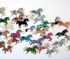 A stampede of galloping horses across the wall! {made with cardboard + buttons, and can be painted or covered in fabric or decorative paper} courtesy of Ann Wood.