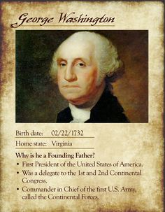 Founding Father Cards founding fathers, father card, school stuff, teacher