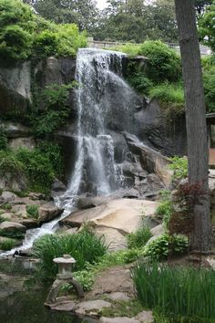 The waterfall of historic Maymont Park in Richmond, Va, is just a train ride away!