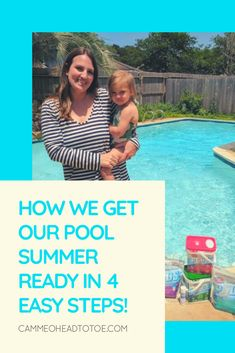 How We Get Our Pool Summer Ready in 4 Easy Steps!  @hthpoolcare @walmart #ad #GetIntoTheWaterFaster   pool maintenance pool care pool supplies diy pool care