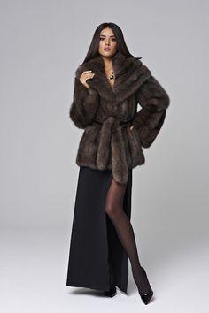 belted sable fur jacket