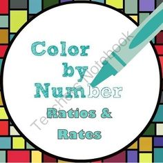 Math Color by Number - Ratio and Rate Fun! from Mathematic Fanatic on TeachersNotebook.com -  (6 pages)  - Have fun with ratios and rates!  Complete the problems in each row. Circle the correct answer. Match the problem numbers with the color you circled to create a colorful picture.