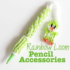 Rainbow Loom: Pen Accessories - a collection of cute things to make with your rainbow loom and add to your pens and pencils #rainbowloom #penguin #tutorials #pen #pencil