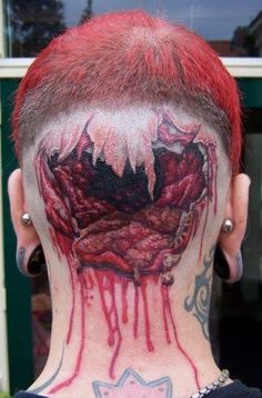 No, THIS Is A Back-Of-The-Head Tattoo INK~ tattoos