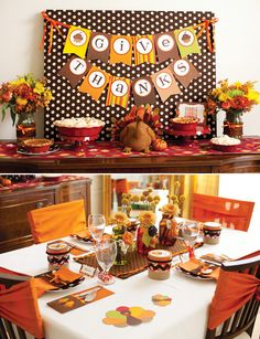 Festive Kids Thanksgiving Table & Craft Ideas