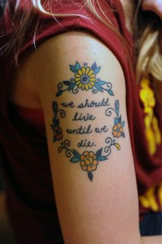 One of my absolute favorite songs made into a gorgeous tattoo. (The Gambler by fun.)