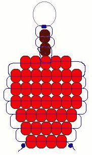 Apple beadie pattern