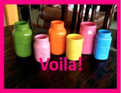 How to: paint mason jars!