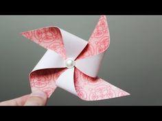 Paper Pinwheel Tutorial - YouTube