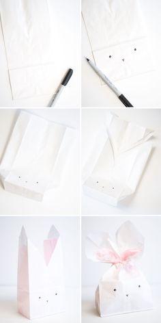 DIY Bunny Favor Bag Tutorial