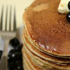 Blueberry - Yogurt Pancakes Recipe | @Keylee Clemmons Ingredient Feb 5th, national pancake day.