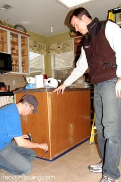 Kitchen: Recovering Island with Beadboard