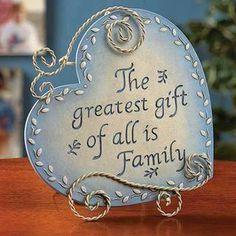 Dana loves her family.