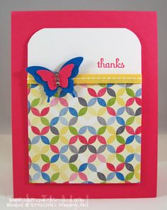 Butterfly Punch Thank You Card Best of 2013   Your Favorite Stamping Ideas
