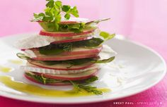 Apple Chevre Salad with Honey Vinaigrette by Sweet Paul #Salad #Apple #Chevre #Sweet_Paul