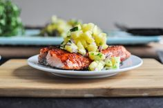 How Sweet It Is BBQ Salmon with pineapple salsa
