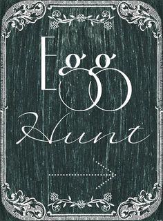 BLISSFUL ROOTS: Printable Chalkboard Egg Hunt Sign