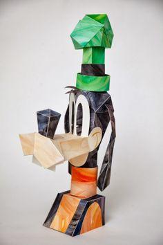Custom Paper Goofy by Matt Hawkins for Wonderground at Downtown Disney