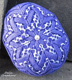 3inch Quilted Easter Egg  Purple and White by DellaCreations, $11.95