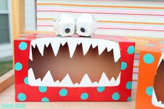 Valentine boxes  for boys  valentine box, tattl monster, craft, valentin box, valentine day, tissue boxes, little monsters, preschool, kid