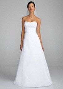 david bridal, ruch waistband, wedding dressses, bridal collection, dream, satin strapless, the dress, gown, accessories