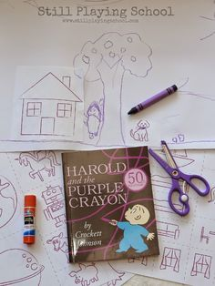 Still Playing School: The Purple Crayon Extension Activity