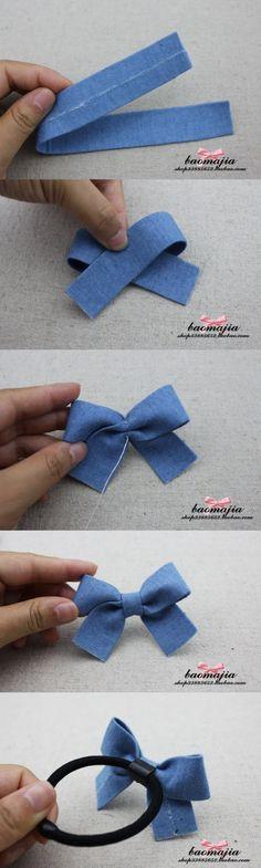 Cute fabric hair bow
