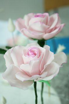 making sugar paste roses