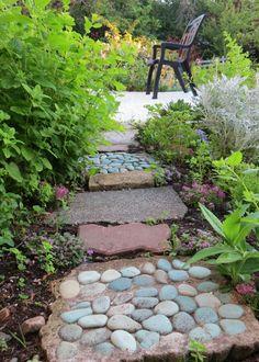 DIY garden path.